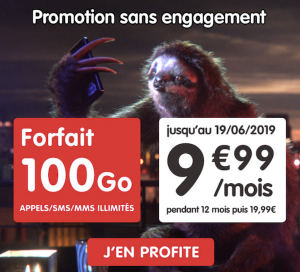 Avec son offre promotionnelle, NRJ Mobile propose un forfait pas cher 100 Go