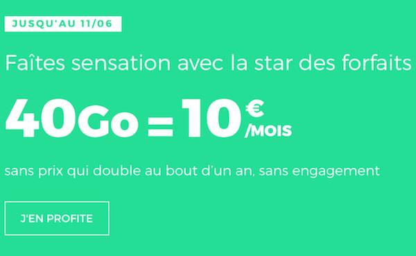 Le forfait 40 Go de RED by SFR en promotion