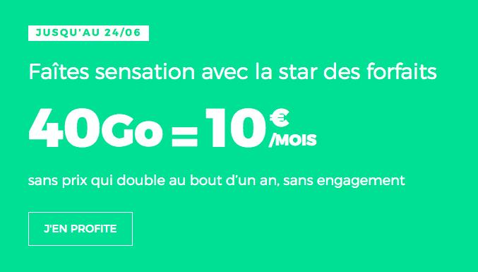 RED by SFR forfait mobile en promo avec 40 Go de data.