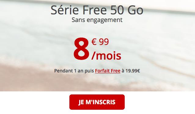 Promo forfait Série Free 50 Go.