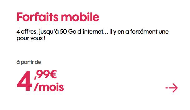 Promo Sosh forfait 4G pas cher.