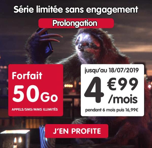 Le forfait en promotion de NRJ Mobile à 4,99€/mois