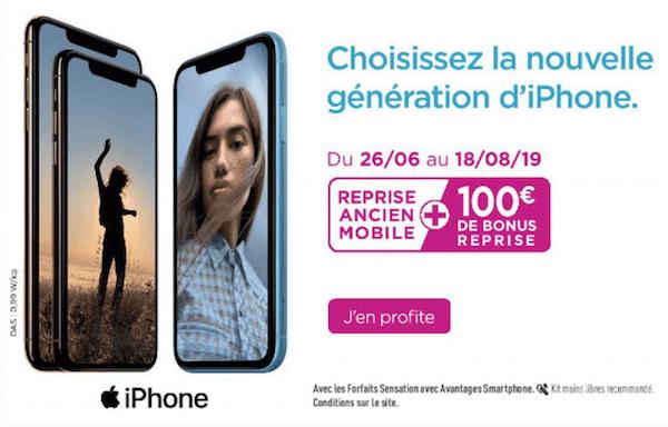 100€ de réduction sur son nouvel iPhone grâce au bonus de reprise Bouygues Telecom