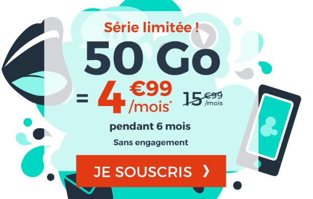 Promo cdisocunt mobile forfait 4G