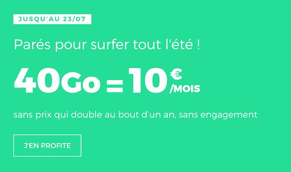 Dernier jour pour le forfait 40 Go en promo de RED by SFR