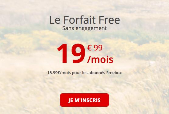 le forfait 4G complet de Free