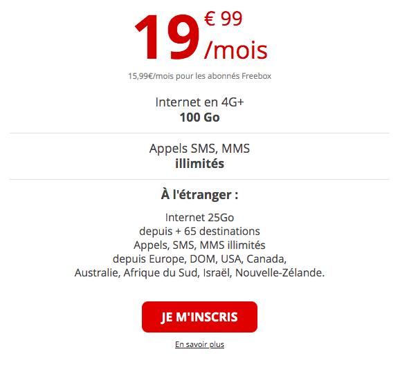 forfait 4G illimitée de free