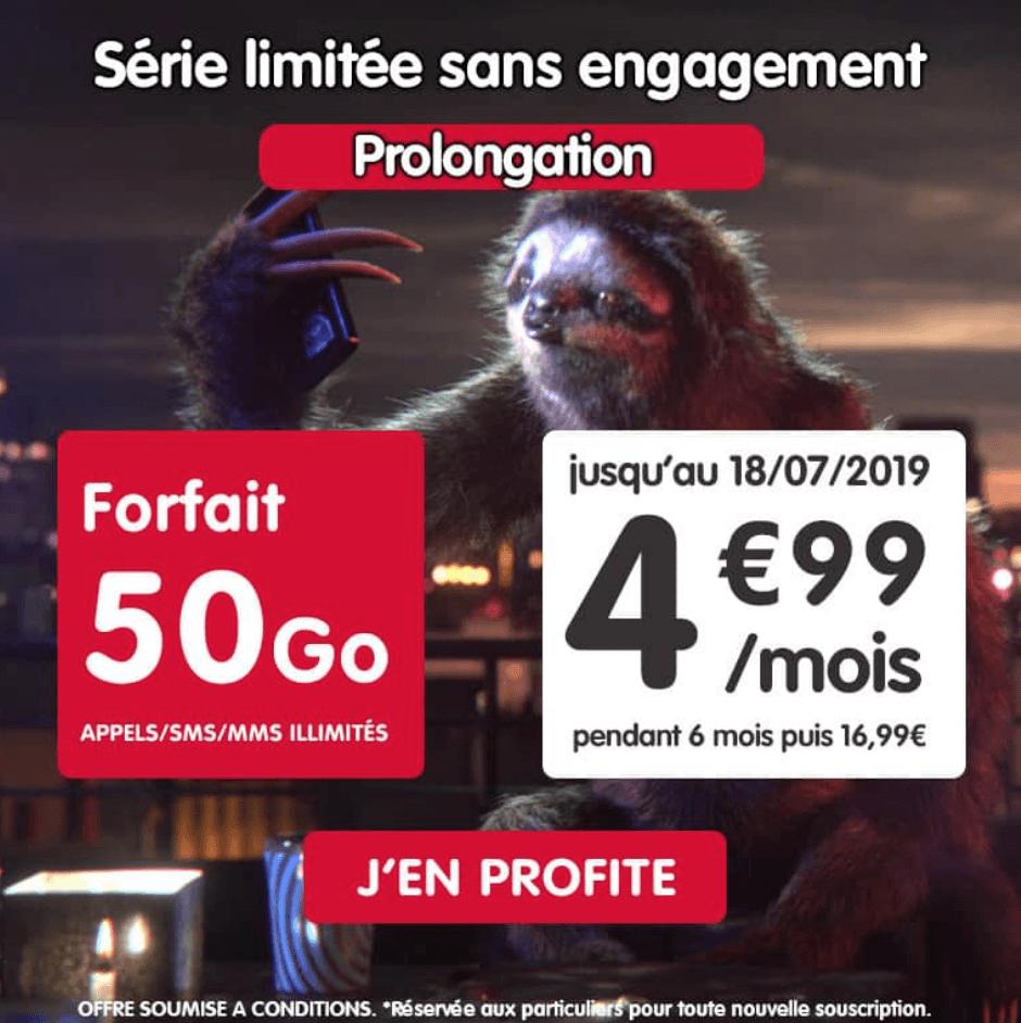 Le forfait mobile en promotion de NRJ