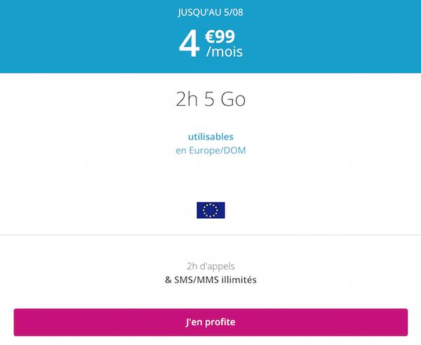 Le promo B&YOU du moment pour un forfait 5€