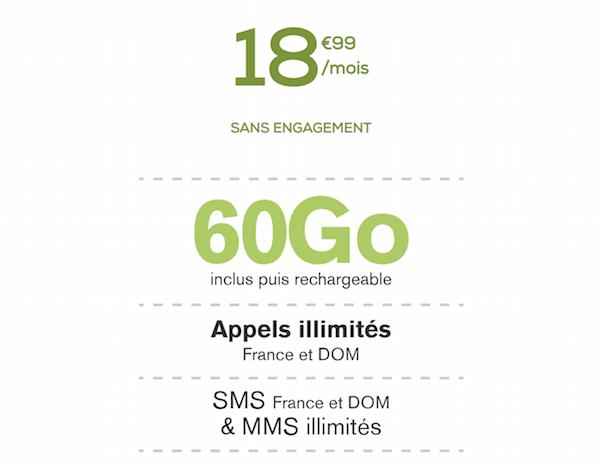 Le forfait 60 Go de La Poste Mobile à 18,99€/mois