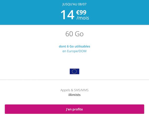15€/mois à vie pour le forfait en promo B&YOU