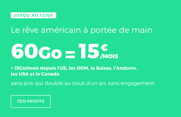 La promotion du moment sur le forfait Europe de RED by SFR