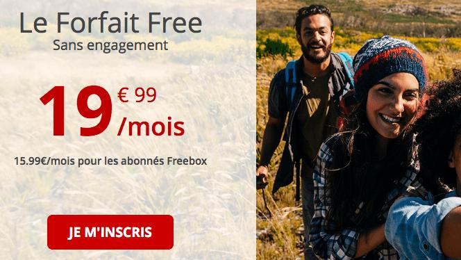Promo Forfait Free illimité.
