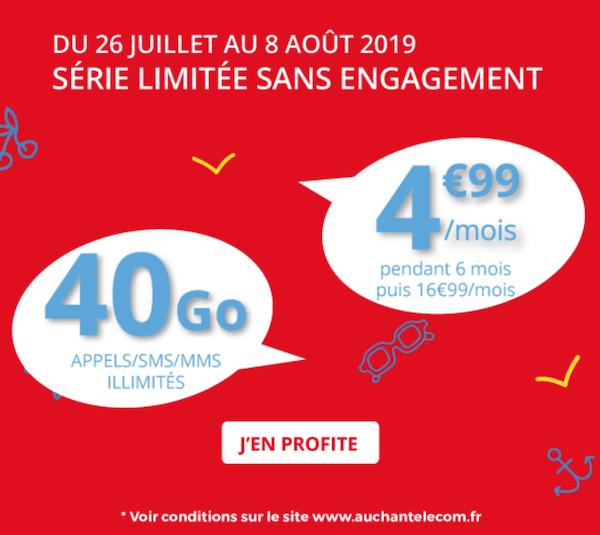 Le nouveau forfait mobile 4G d'Auchan Telecom