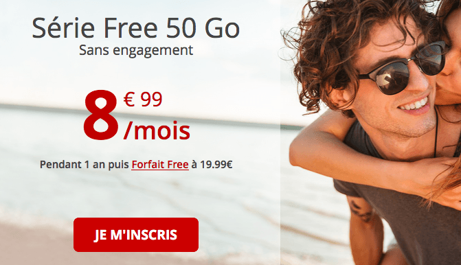 Série Free 50 Go promo forfait pas cher.