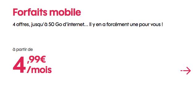 Sosh abonnement mobile à prix réduit.