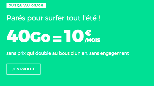 Promo RED by SFR forfait pas cher.