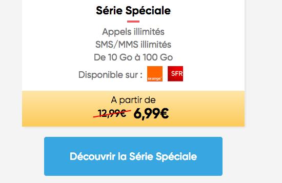 Forfait Série spéciale en promo chez Prixtel.