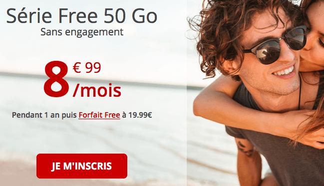 Série Free 50 Go promotion chez Free.