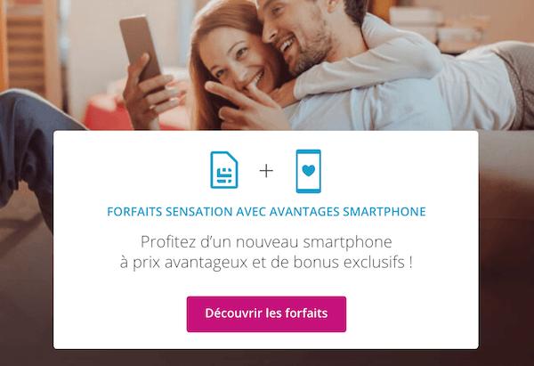 Les forfaits sensations disponibles avec le bonus de reprise pour un iPhone pas cher