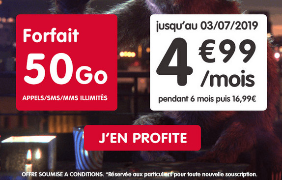Forfait 4G pas cher chez NRJ mobile.