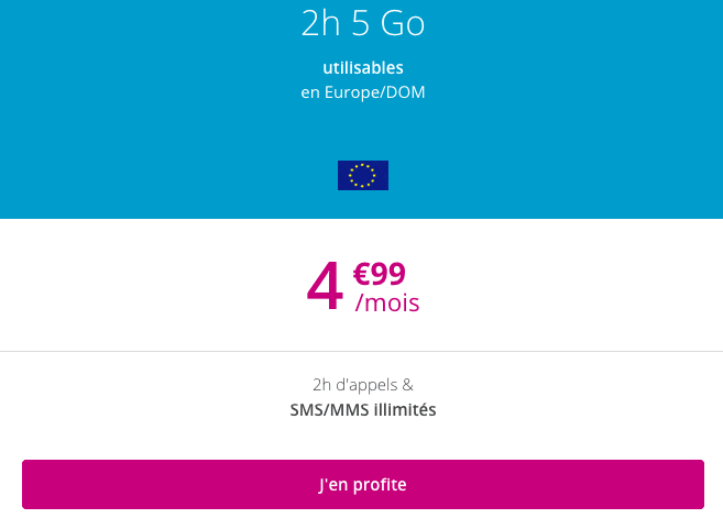 B&YOU 2h 5 Go promotion.