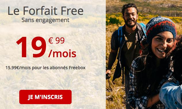 Forfait 4G en promo chez Free.