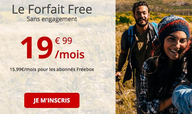 Forfait Free en promotion.