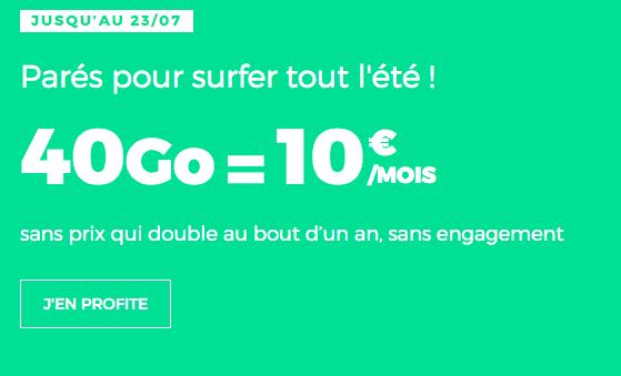 Promo RED by SFR pour un forfait riche en data.