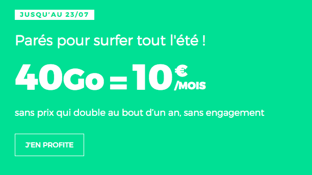 Promo forfait RED by SFR avec data.