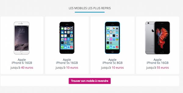Les smartphones les plus repris par Bouygues Telecom