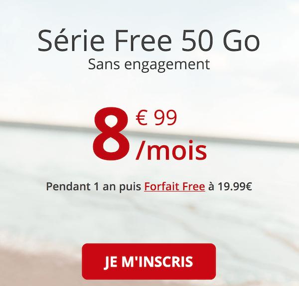 la série spéciale free 50 go