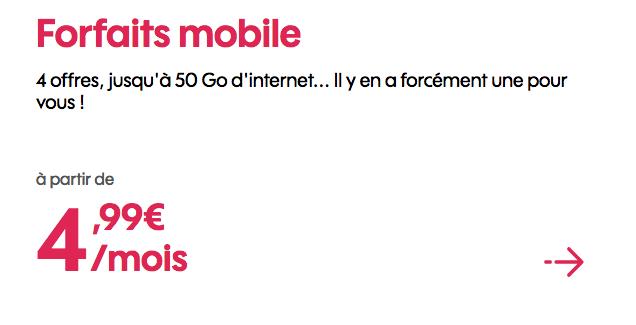 Promotion forfait 4G chez Sosh.