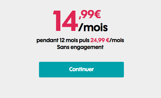 Sosh forfait mobile en promotin avec 20 Go de données internet.