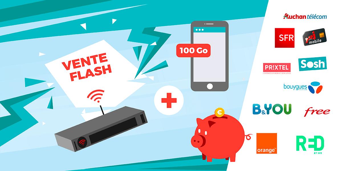 Box internet + forfait 100 Go