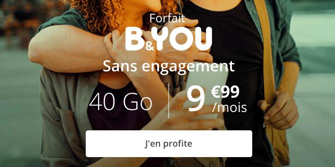 promo forfait B&YOU 40 Go.