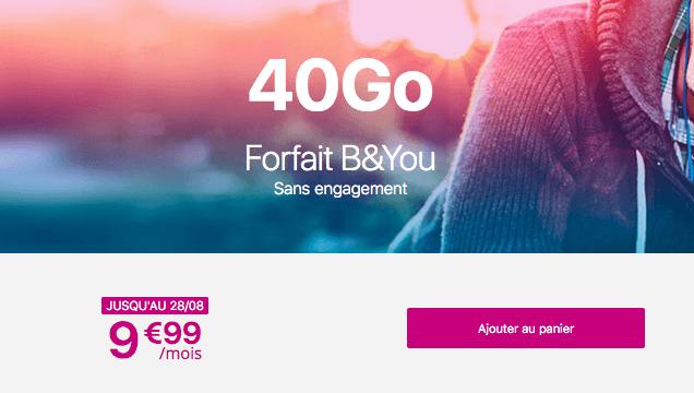 Le forfait B&YOU 40 Go, compagnon idéal du Galaxy Note10.