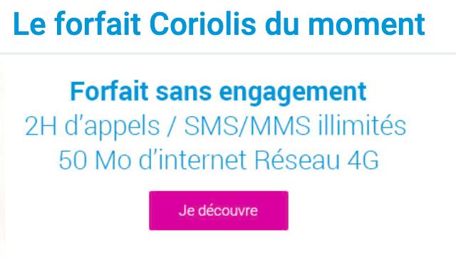 La promo Coriolis Telecom du moment.