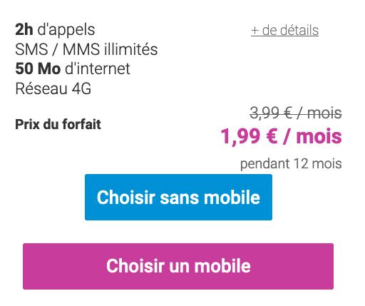Coriolis Telecom propose un forait sans engagement à 2€