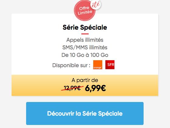 Série Spéciale Prixtel promo forfait.
