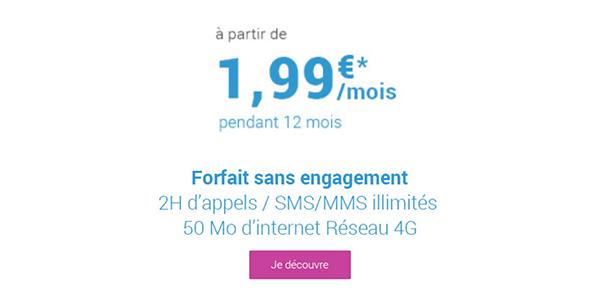 La promo Coriolis Telecom pour un forfait 2€
