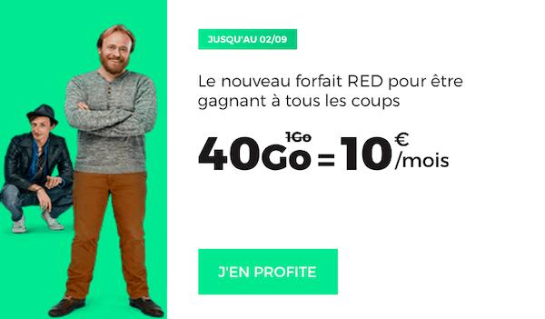 Le nouveau forfait 4G à 10€ proposé par RED by SFR