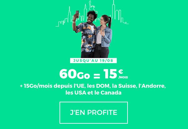 60 Go pour seulement 15€/mois avec l'autre forfait 4G en promotion de RED by SFR