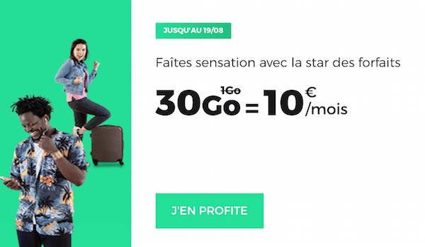 Le forfait 4G en promotion de RED by SFR