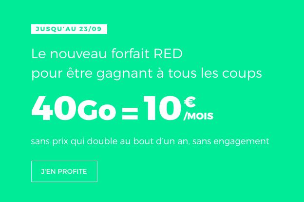 choisir le forfait 4G de red by sfr