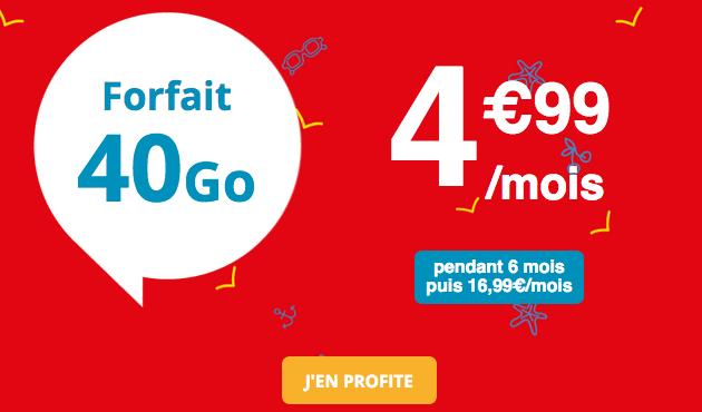 Auchan Telecom promotio forfait mobile.