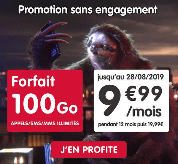 La nouvelle promotion NRJ Mobile pour un forfait pas cher 100 Go