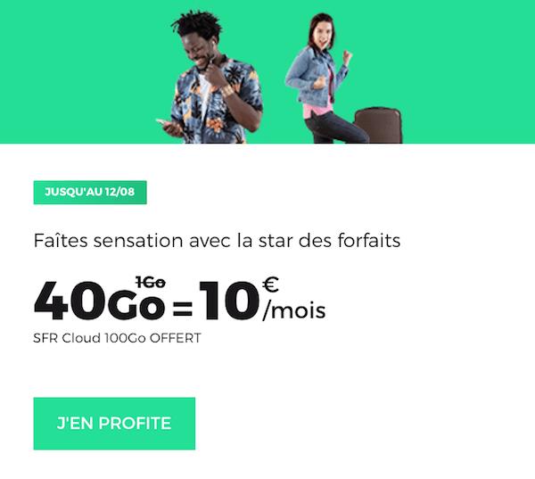 Le forfait en promo 40 Go de RED by SFR