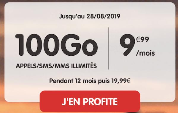 100 Go de données mobiles pour moins de 10€/mois avec le nouveau forfait en promo NRJ Mobile