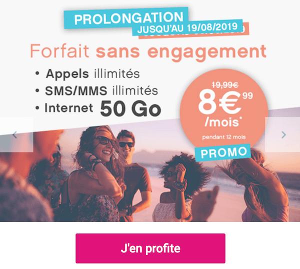 Le forfait en promotion proposé par Coriolis Telecom